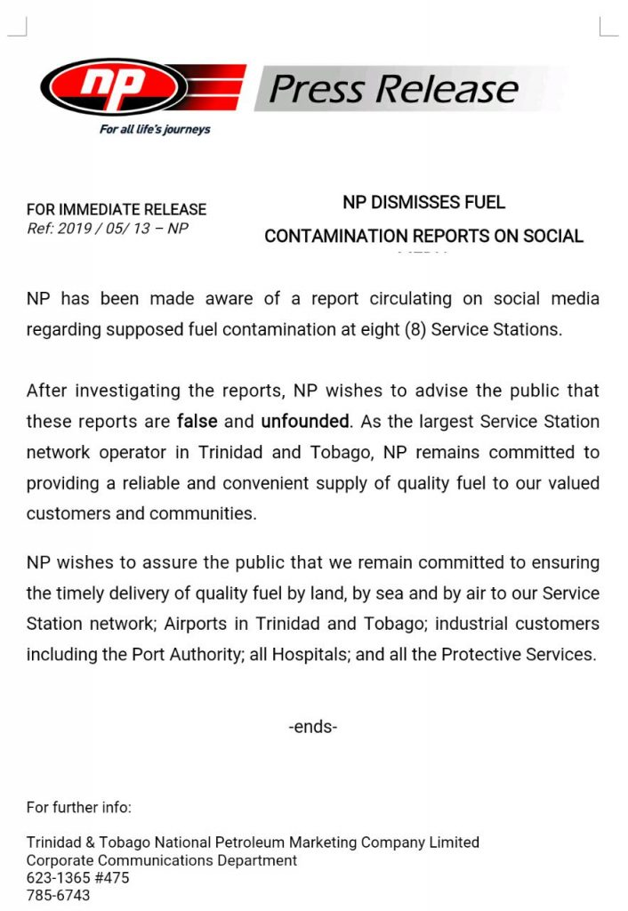 NP media release