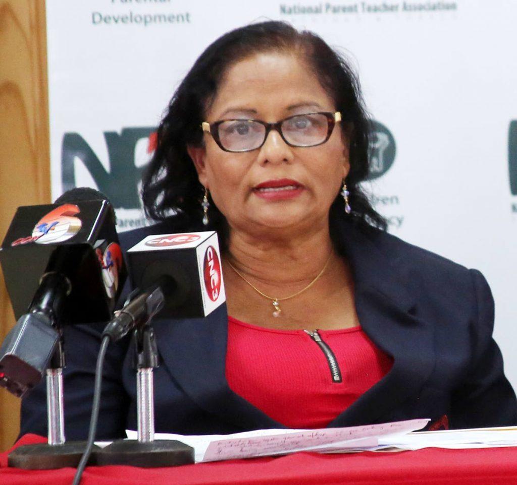 NPTA president Raffiena Ali-Boodoosingh