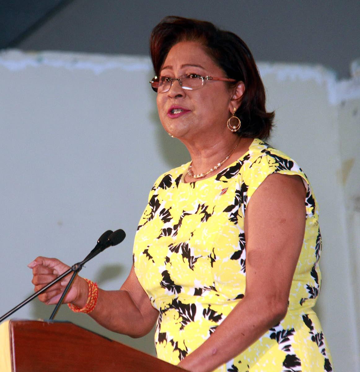 UNC political leader Kamla Persad Bissessar.