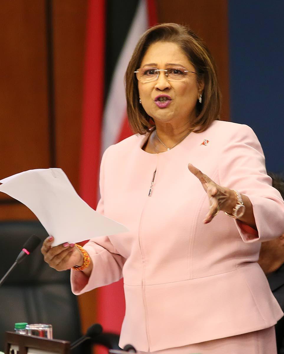 Opposition Leader Kamla Persad Bissessar. FILE PHOTO