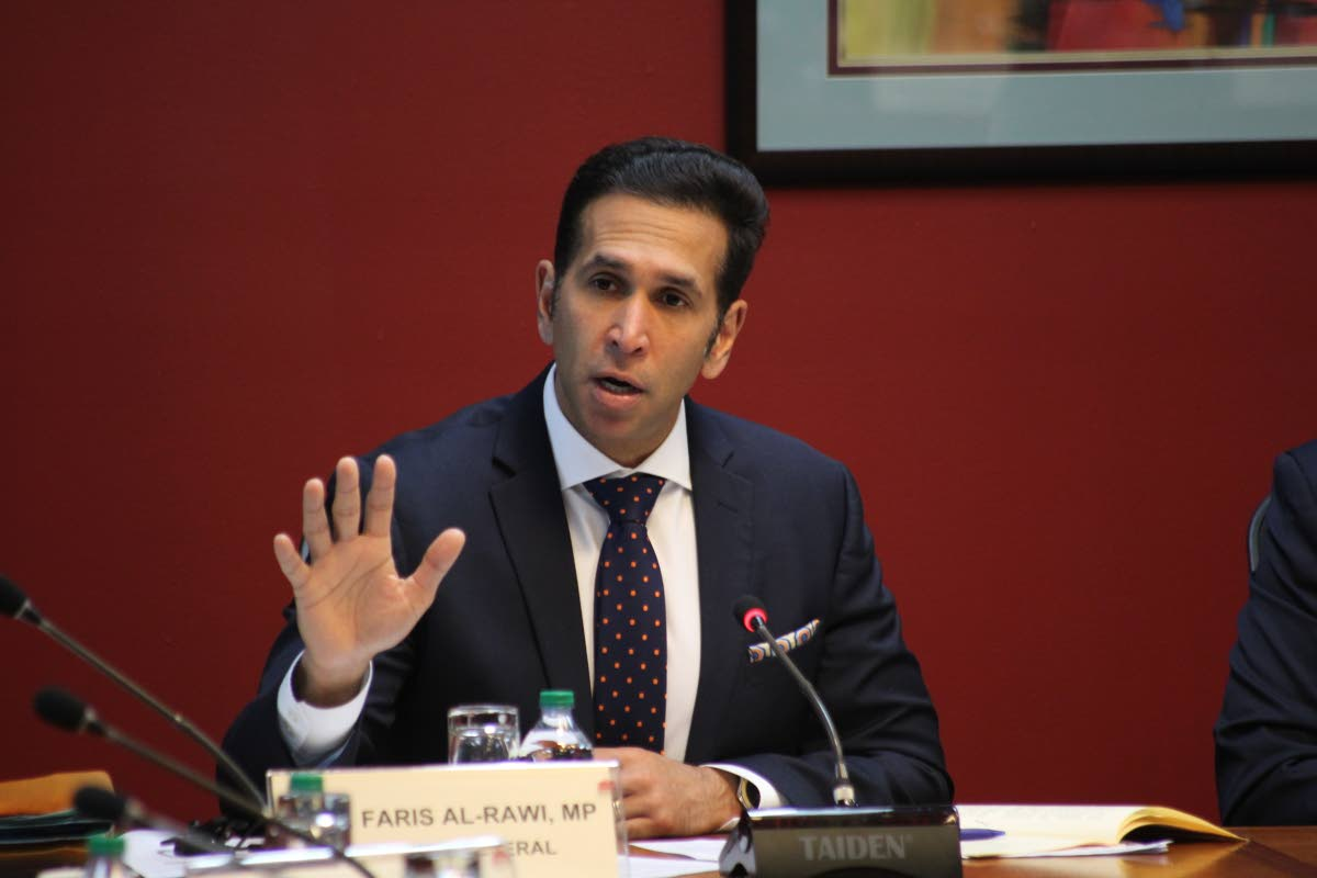 Attorney General Faris Al-Rawi at the special select committee appointed to consider and report on the Sexual Offences (Amendment) Bill 2019 in Parliament on March 12. FILE PHOTO