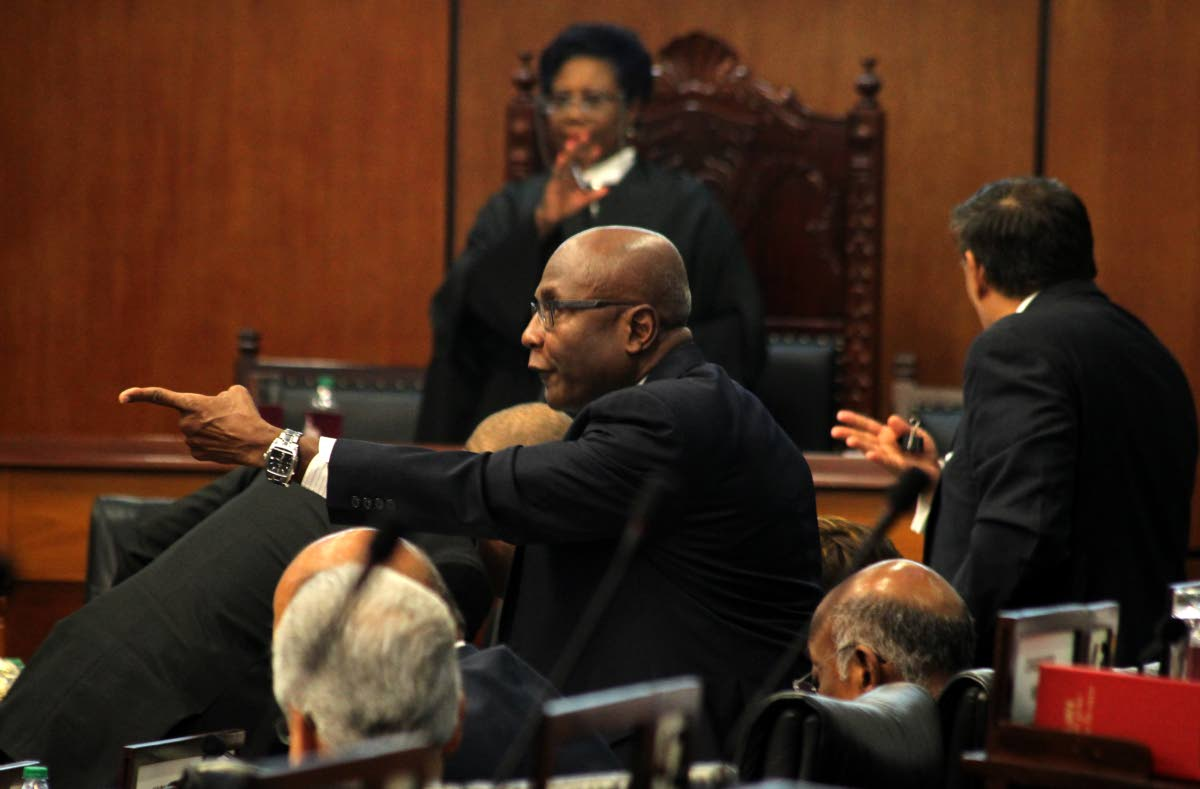 File photo: Naparima MP Rodney Charles jumps to his feet during a sitting of Parliament. Photo by Roger Jacob