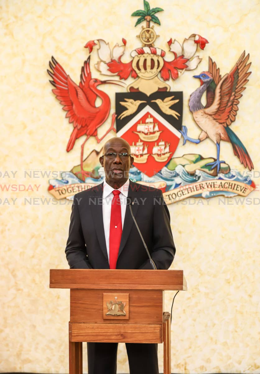 Prime Minister Dr Keith Rowley  PHOTO BY JEFF K MAYERS