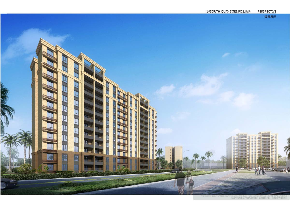 The HDC conceptual design images of affordable housing development to be constructed South Quay, Port of Spain. Photo courtesy HDC