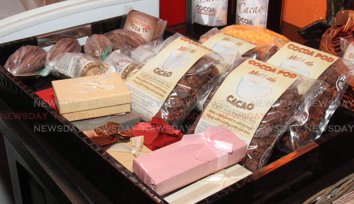 A range of cocoa products available at The Cocoa Pod. Photo by Angelo M Marcelle
