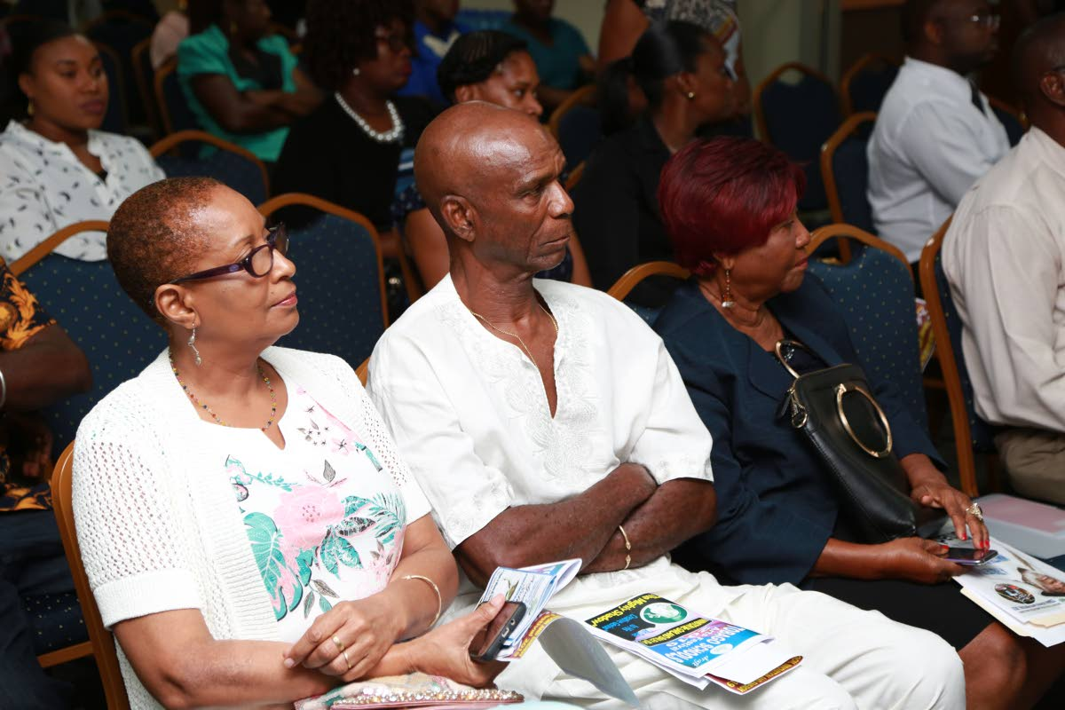 A cross section of those gathered at Tuesday's launch of the Tobago Schools Art Festival 2019 at the Penthouse of the Victor E Bruce Financial Complex in Scarborough.