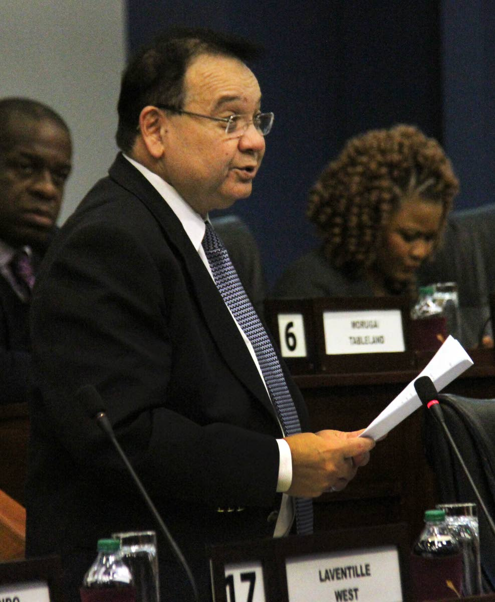Energy and Energy Industries Minister Franklin Khan makes a statement to the House of Representatives on Government's LNG agreements on June 10. PHOTO BY ANGELO MARCELLE