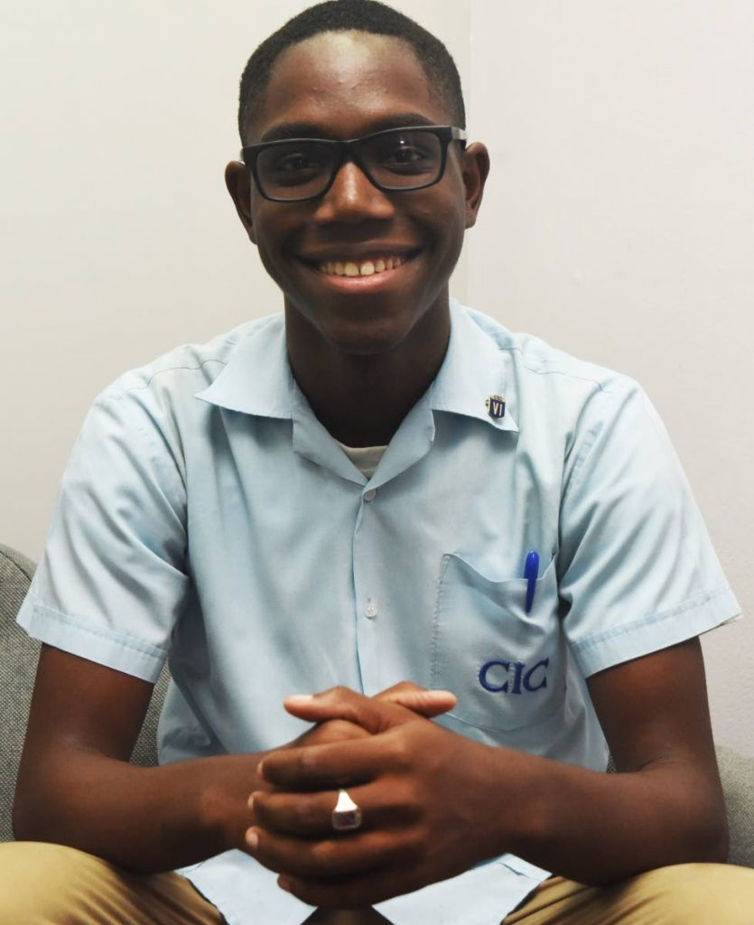 A student of St Mary's College, Port of Spain, Christian Harper  secured seven distinctions at last year's CSEC examinations, including math, add maths, chemistry, biology and physics.
