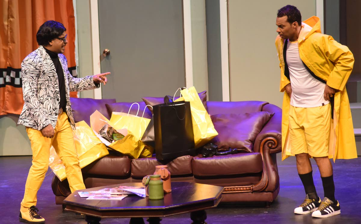 Fareid Carvalho, left, and Dese Simon in a scene from the play.