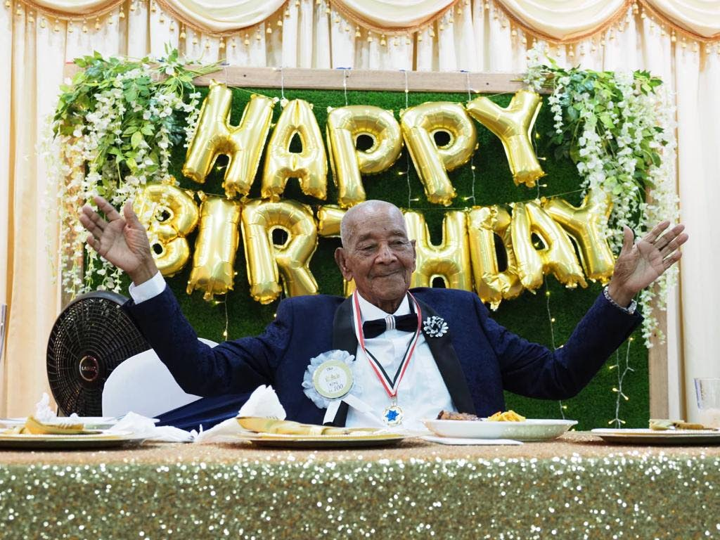 Angelo Martinez celebrating his 100th birthday recently.