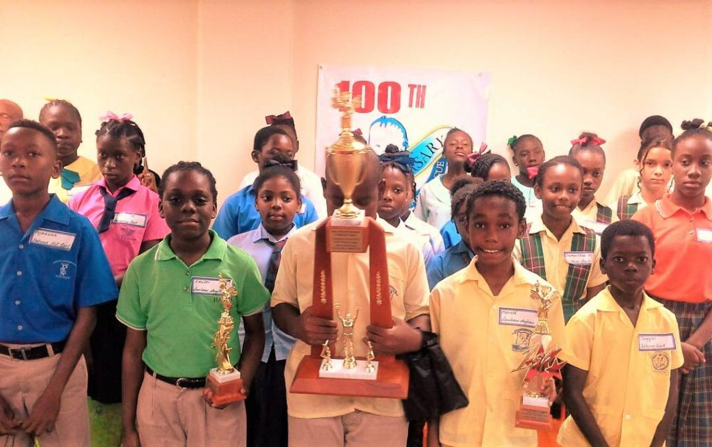 Participants from the various schools who took part in the Child Welfare League spelling bee competition recently.