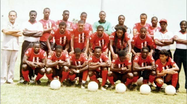 Players and officials of the national football team that were known as the 'Strike Squad'.