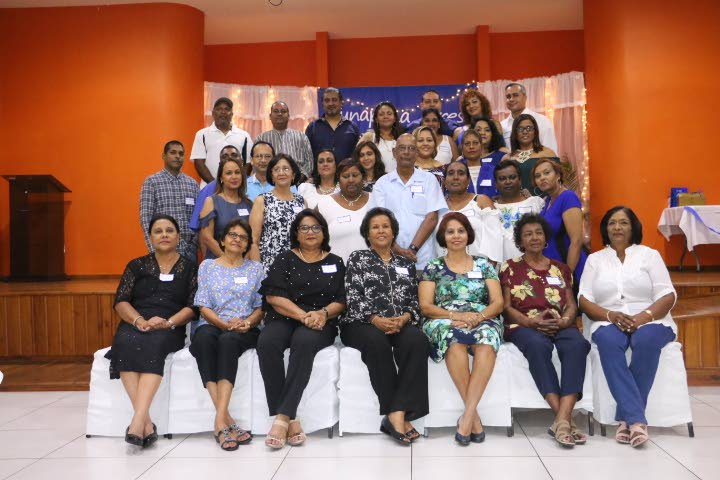 Teachers and students of Tunapuna Presbyterian, class of 1982.