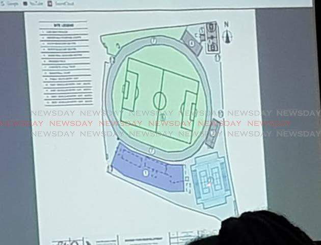 Stakeholders were shown proposed plans for the upgrade of Skinner Park, San Fernando, Trinidad during a presentation on Monday June 24, 2019. Photo by Yvonne Webb