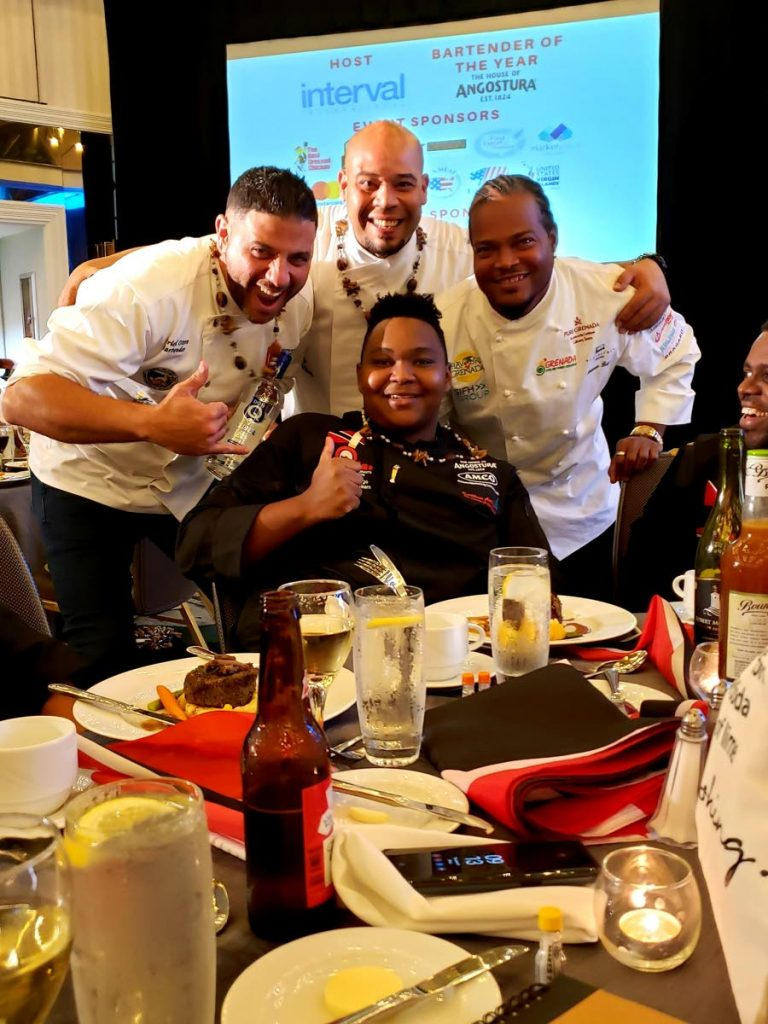 Best Non-alcoholic Drink winner, bartender Isaiah Trumpet centre, surrounded by his colleagues/fans.