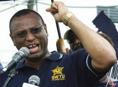 I IN CHARGE: Ancel Roget, returned as president general of the OWTU. FILE PHOTO