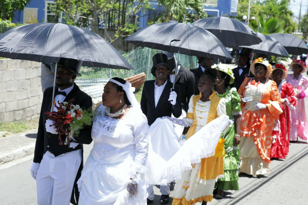 A wedding procession during a reenactment of a traditional wedding for the opening of the Buccoo Goat and Crab Festival earlier this year.