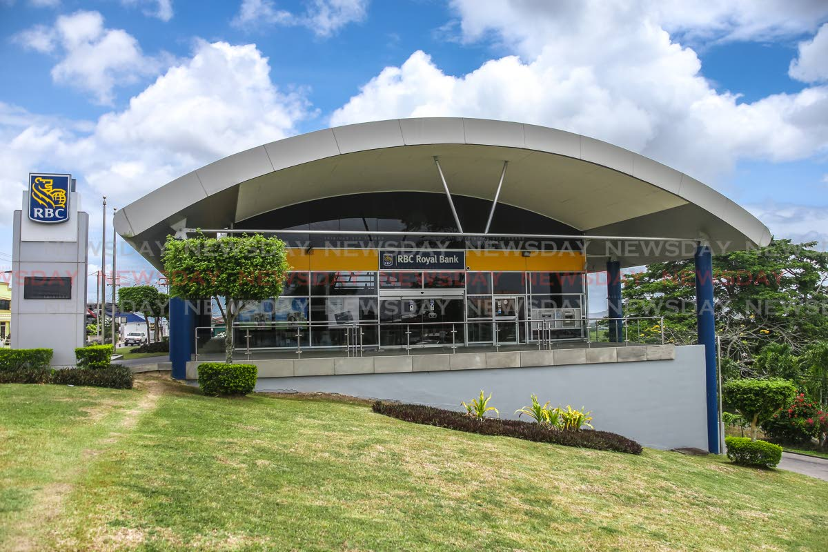 The Princes Town branch of RBC TT. Gretchen Camacho, managing director of RBC TT says operations here are the nexus of its Caribbean network. Photo by Jeff K Mayers