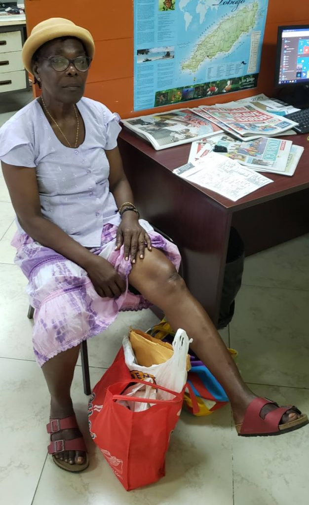 Yvonne Alexander, 68, is suffering from knee pain but can't get an X-ray done at the Scarborough General Hospital.
