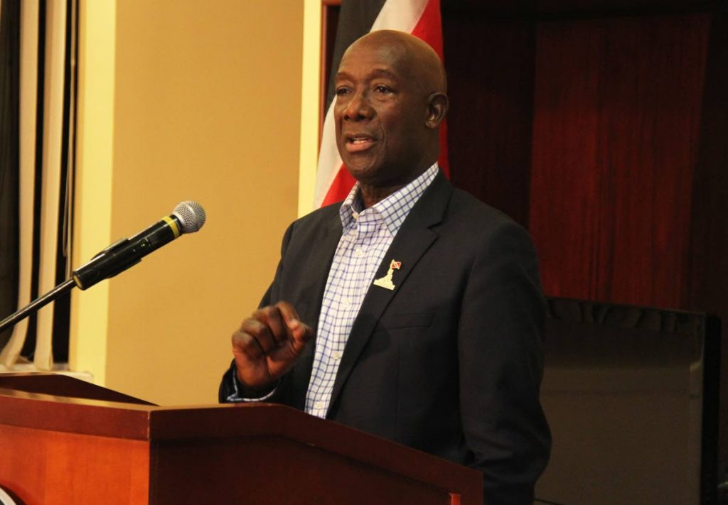 Prime Minister Dr Keith Rowley  PHOTO BY AYANNA KINSALE