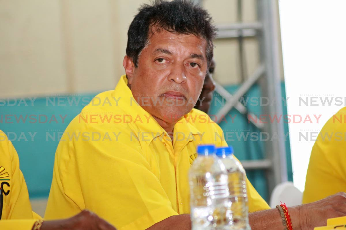 MP for Fyzabad Lackram Bodoe during the UNC political Monday night meeting held at Fyzabad Secondary school. Photo by Chequana Wheeler