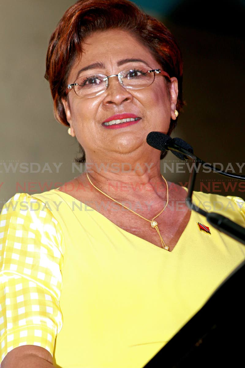 Opposition Leader Kamla Persad-Bissessar PHOTO BY: CHEQUANA WHEELER
