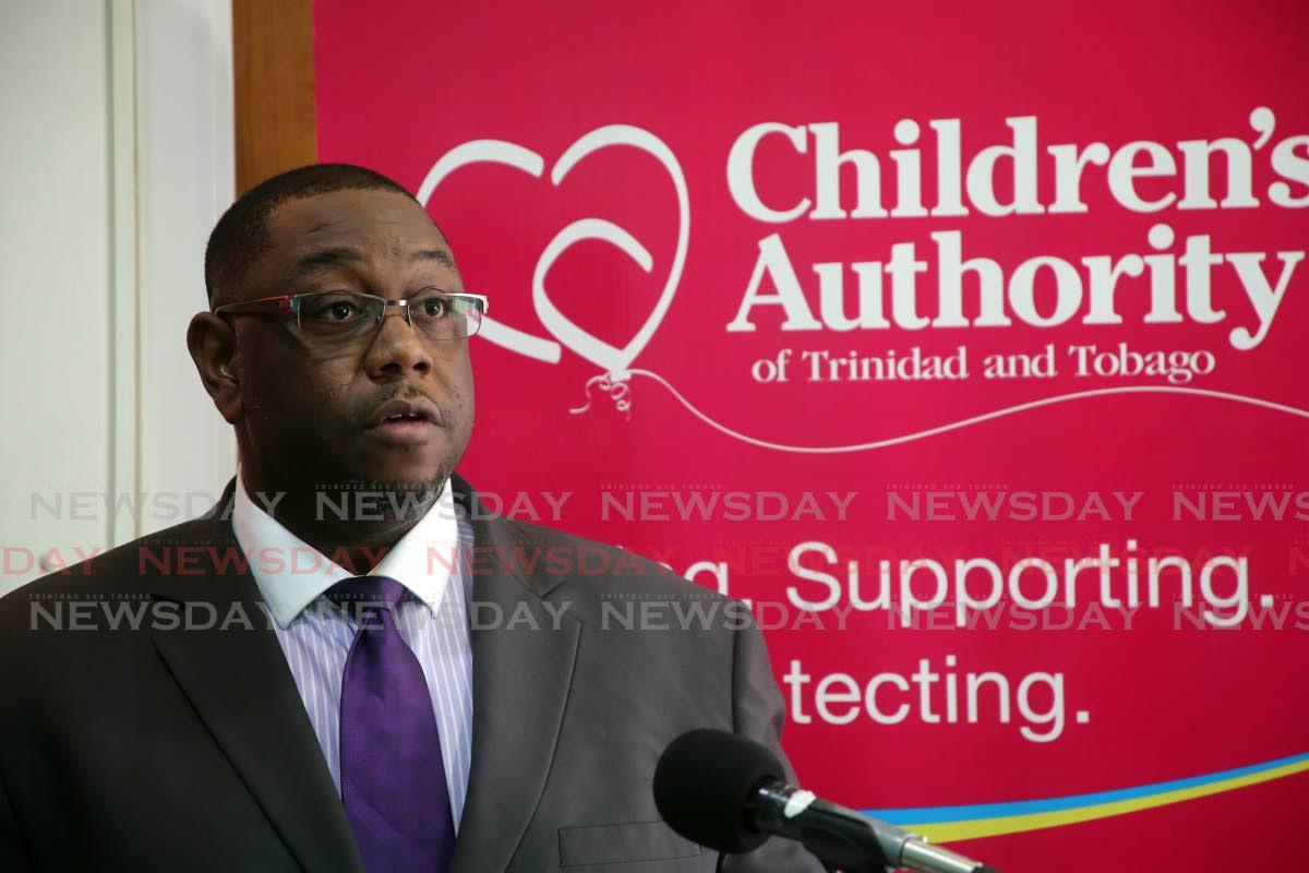 Children's Authority chairman Hanif Benjamin.   PHOTO SUREASH CHOLAI