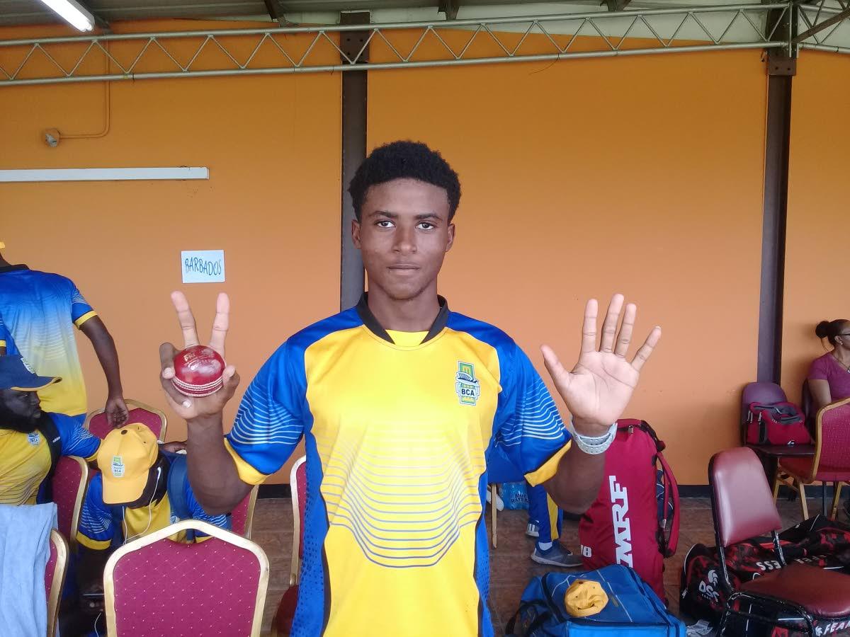 Barbados fast bowler Jaden Leacock.