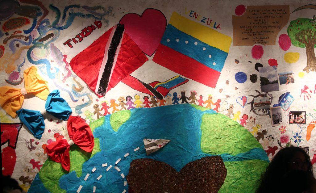 In-Between, Stories of a refugee at Medulla art gallery on Fitt Street, Woodbrook.  Photo: Sureash Cholai