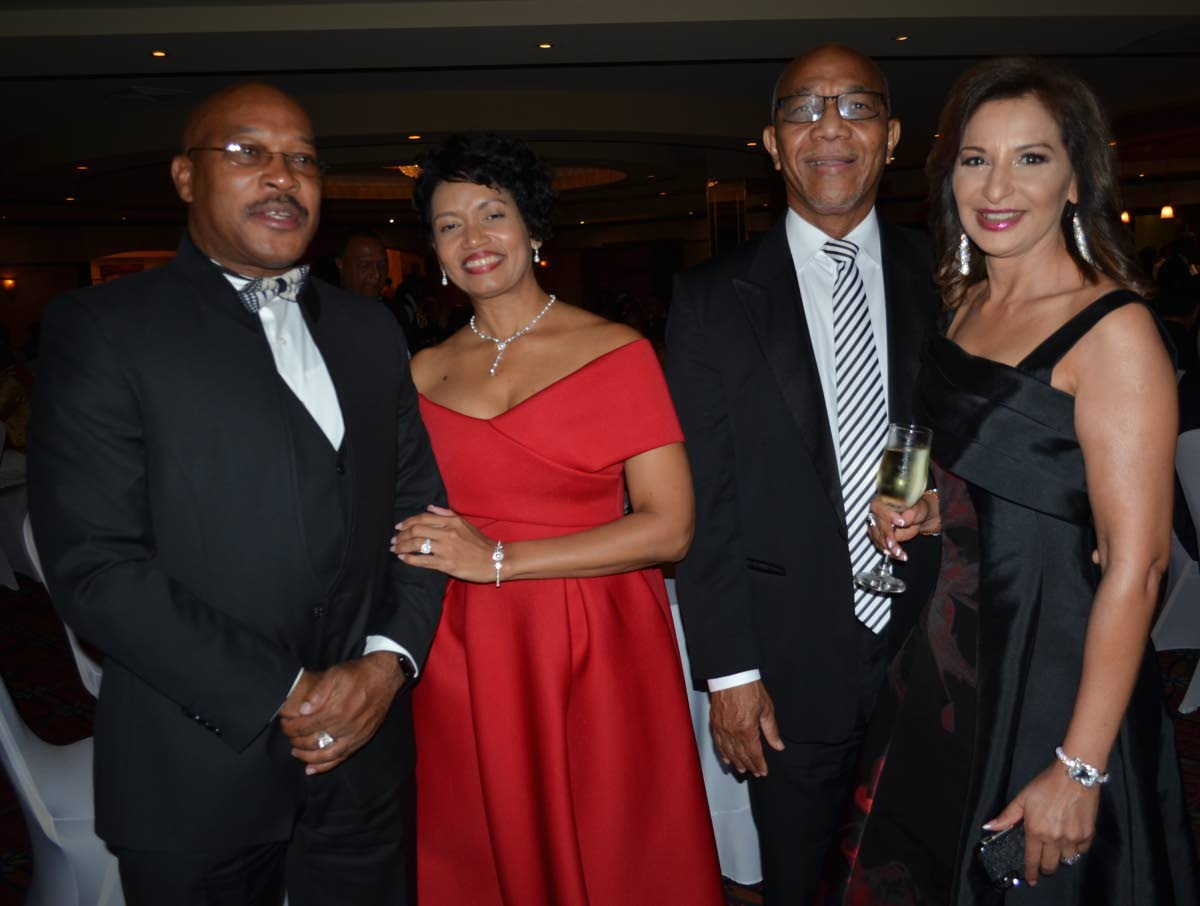 Patrick Taylor from left, Renee Franklin, Sam Martin and Yvonne Martin