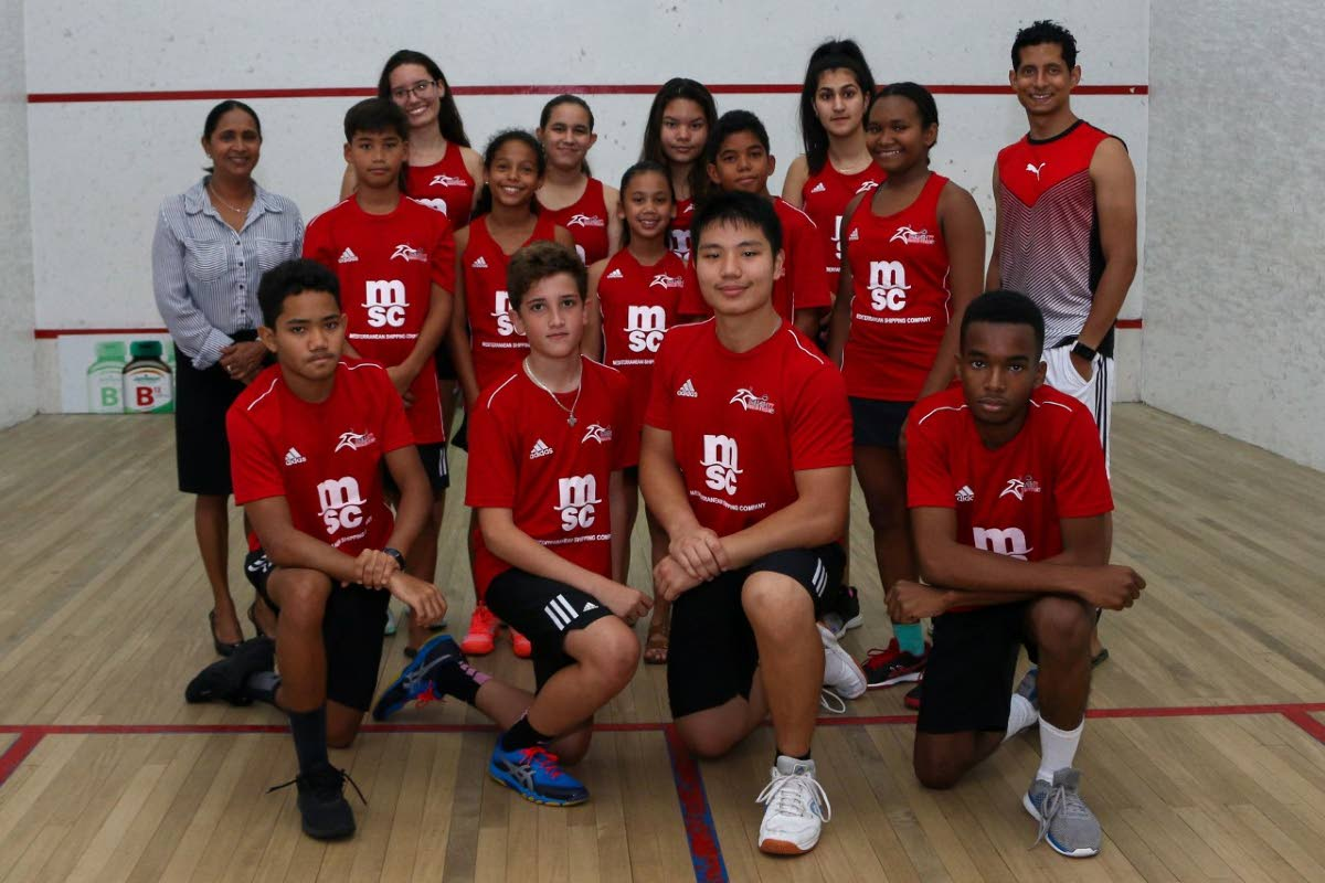 The TT junior squash team