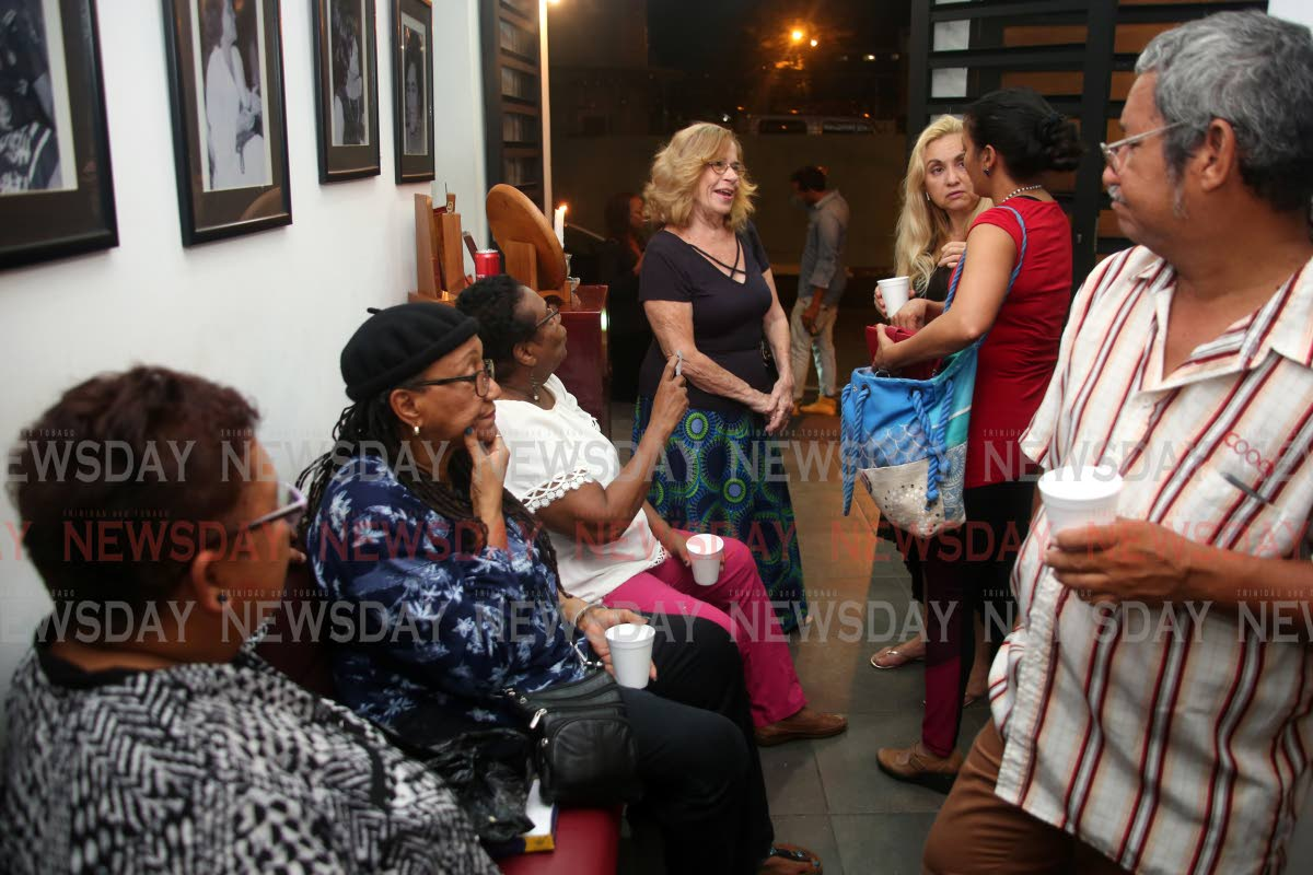 Members of the theatre community gathered at the Little Carib Theatre in Woodbrook on Monday night  in memory of  actor/director Raymond Choo Kong, who was murdered at his Arima home. July 15, 2019. Photo by Sureash Cholai