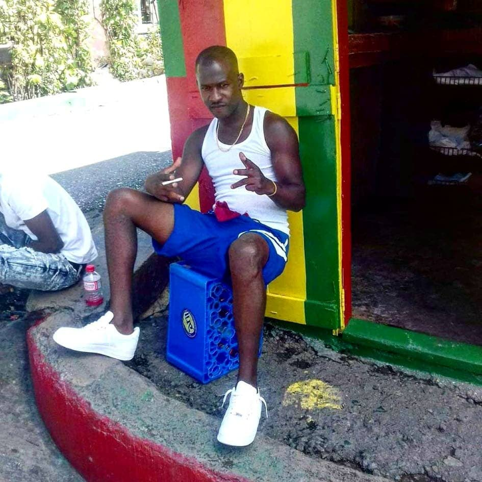Derrick Joseph aka 'Pullskin' was shot and killed at his parlour, the Red, Yellow and Green Shop at St Barbs Road, Laventille, at around 8.45 pm yesterday.  PHOTO COURTESY SOCIAL MEDIA.