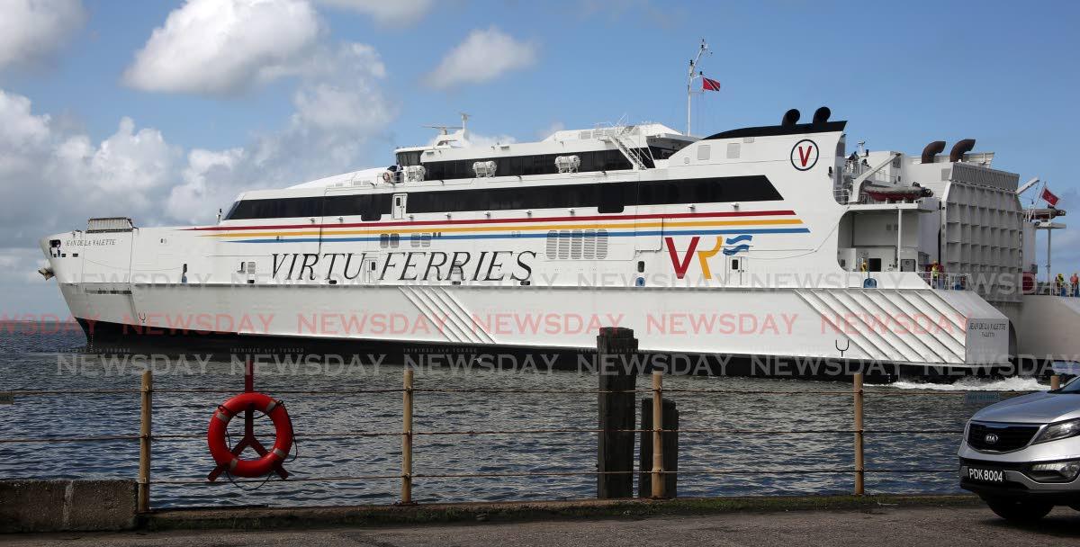 The Jean de la Valette at the Port of Spain port on Thursday. PHOTO BY SUREASH CHOLAI