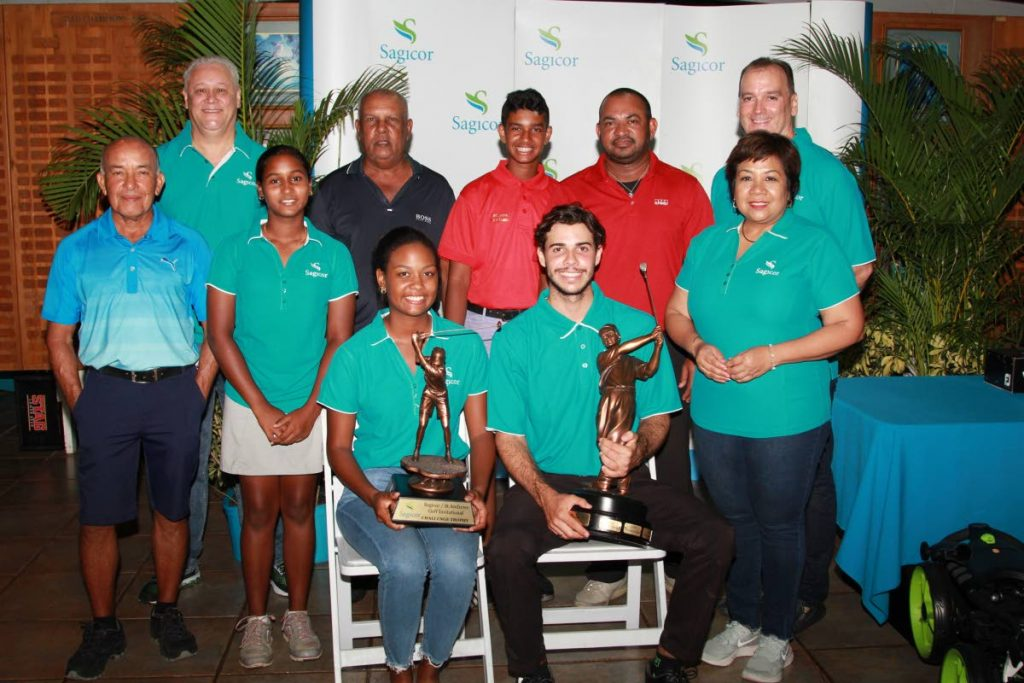 The winners of the various flights pose for a photo, at the prizegiving ceremony of the 19th edition of the Sagicor/St Andrews Golf Club Invitational held on Sunday,  in Moka, Maraval.