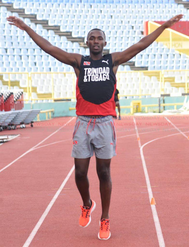TT 110m hurdles champion Ruebin Walters.
