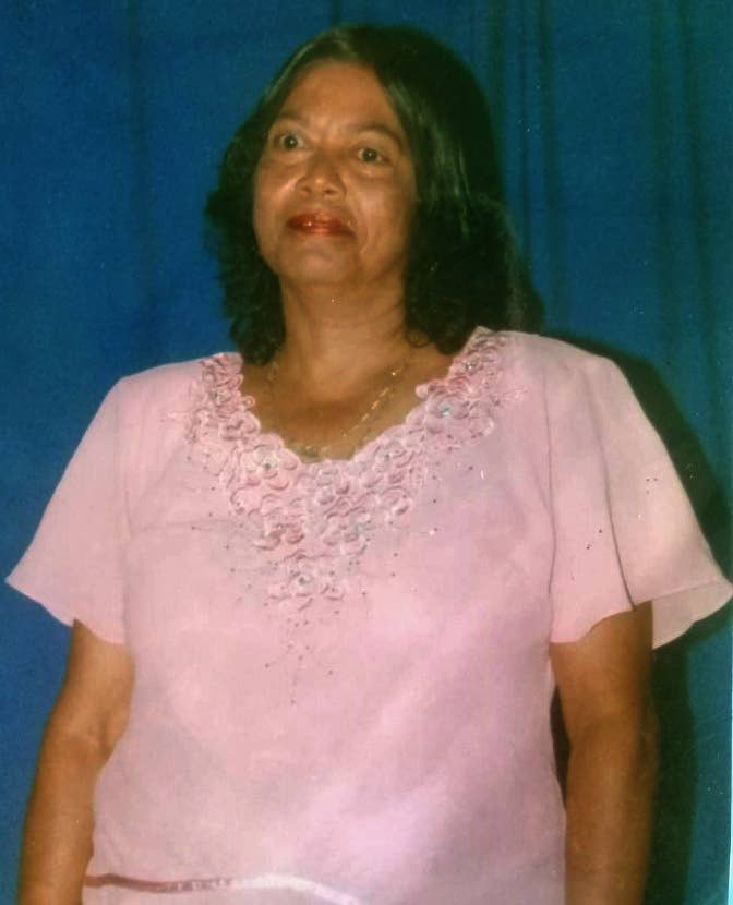 : Merle Singh, shot dead at her Moruga home on her 65th birthday yesterday.