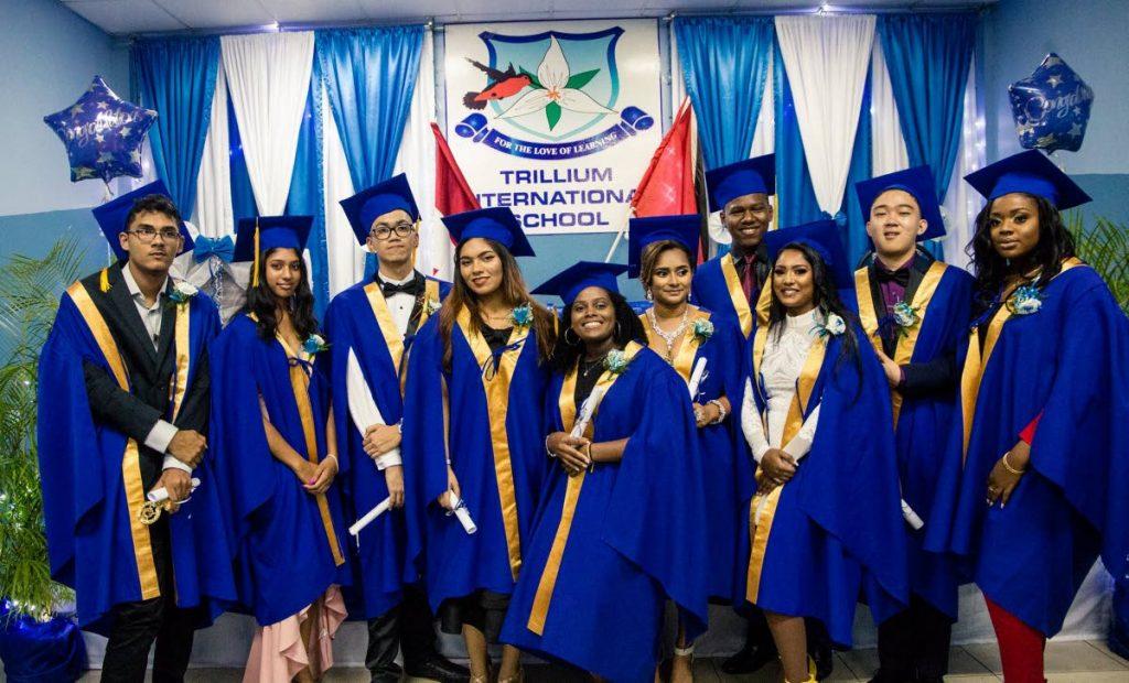Members of the 2019 graduating grade 12 class of the Trillium International School. Photo taken from trilliumtt.com