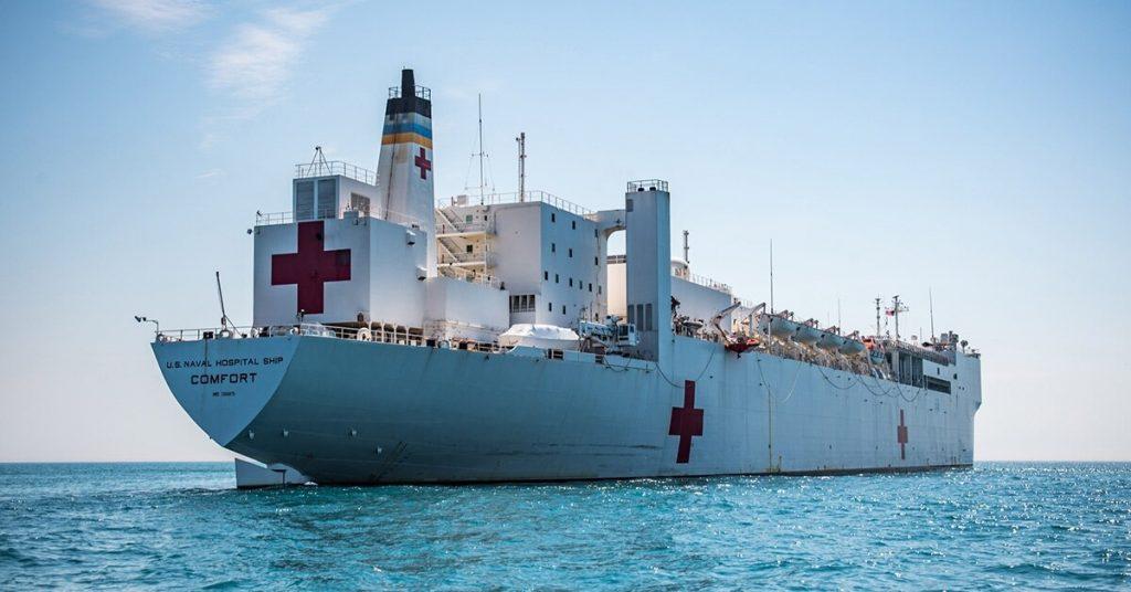 US Navy hospital vessel Comfort. Photo courtesy navy Times