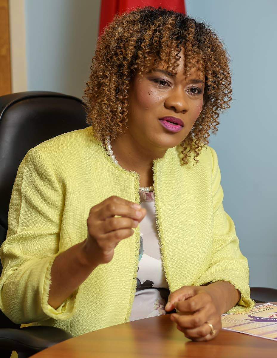 Tobago East MP Ayanna Webster-Roy says Tobagonians are not taking advantage of national programmes. PHOTO BY JEFF K MAYERS