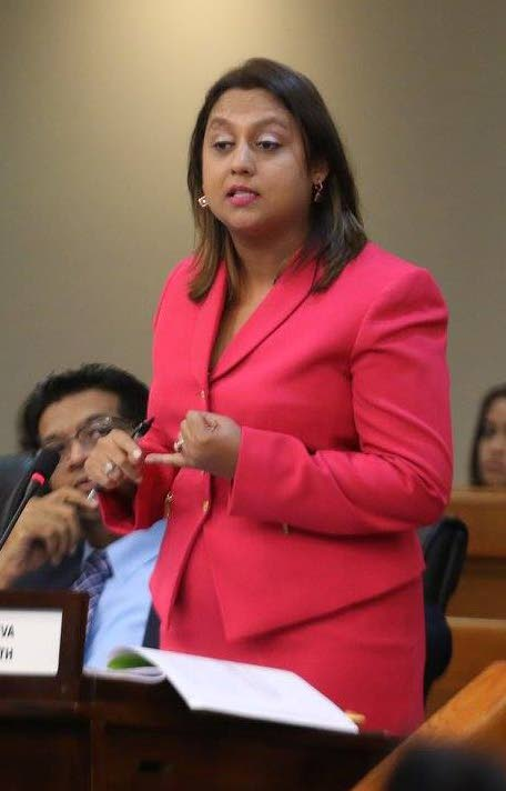NO TO ROWLEY: Couva North MP Ramona Ramdial who hit PM Dr Rowley's plea to central Trinidad voters to give the PNM a chance in upcoming national elections.
