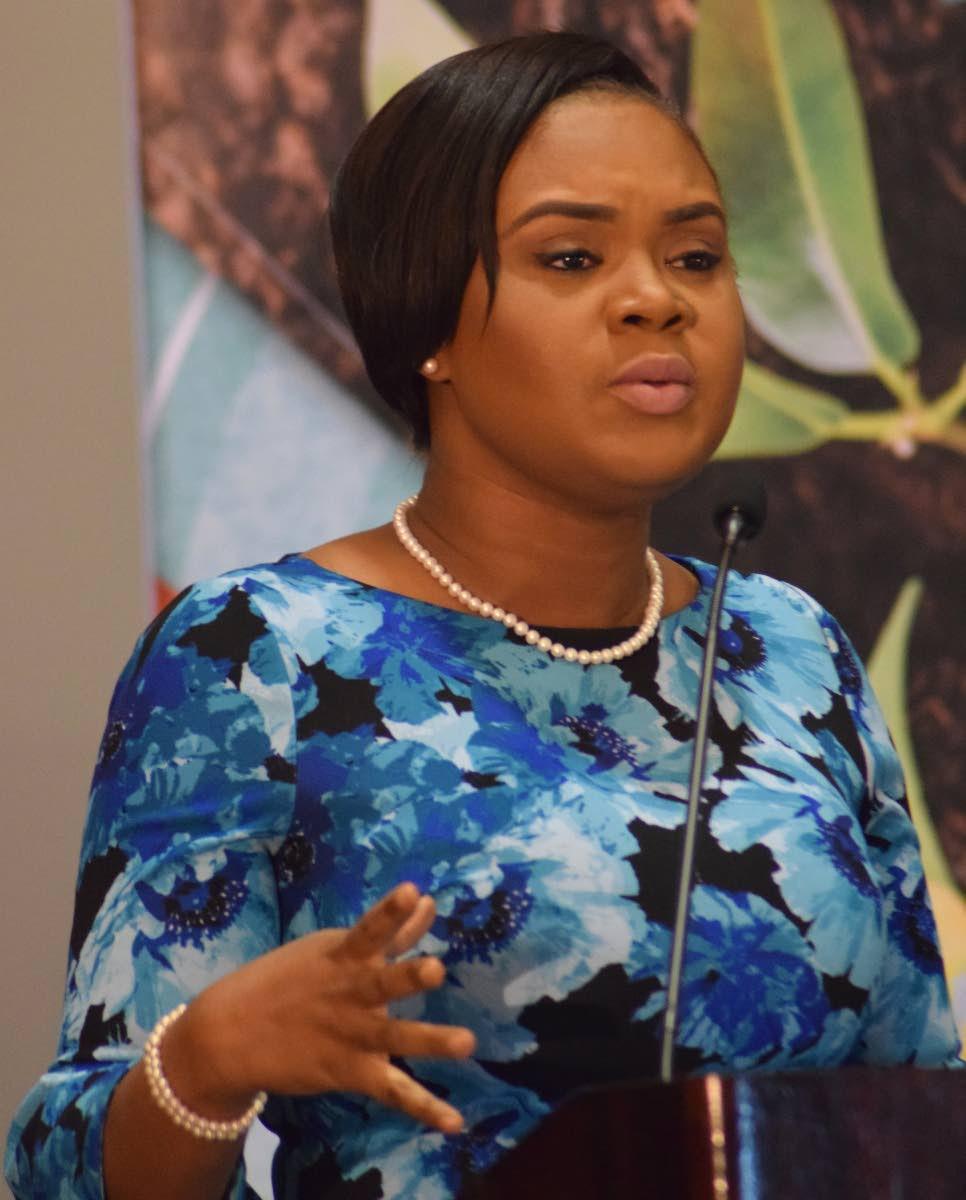 Tobago West MP Shamfa Cudjoe says youths need to take advantage of opportunities. PHOTO BY VIDYA THURAB