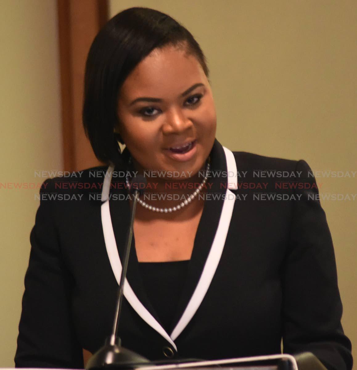 Tobago West MP Shamfa Cudjoe