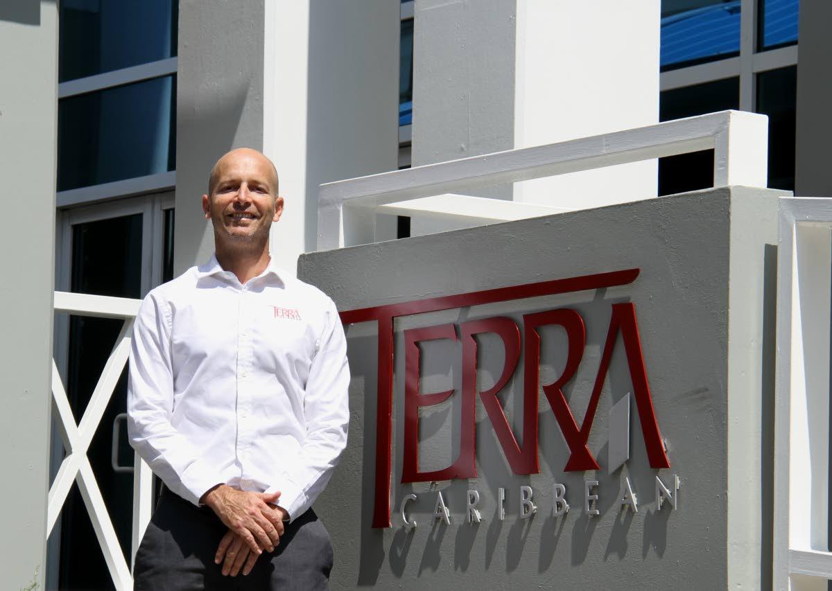 Terra Caribbean CEO Jean-Paul de Meillac at the company's head office in St Clair. PHOTOS BY AYANNA KINSALE