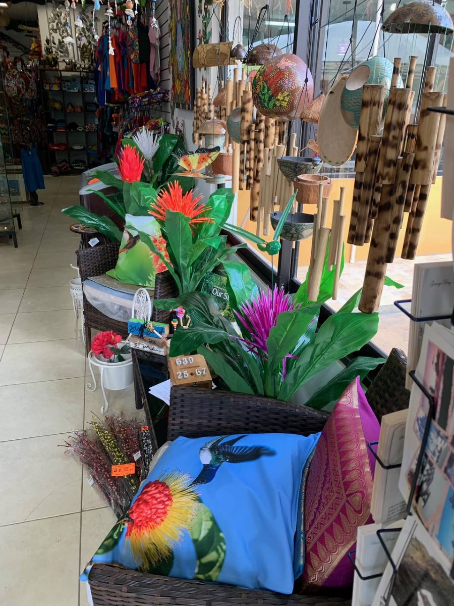 Items on sale at Bambu souvenir store