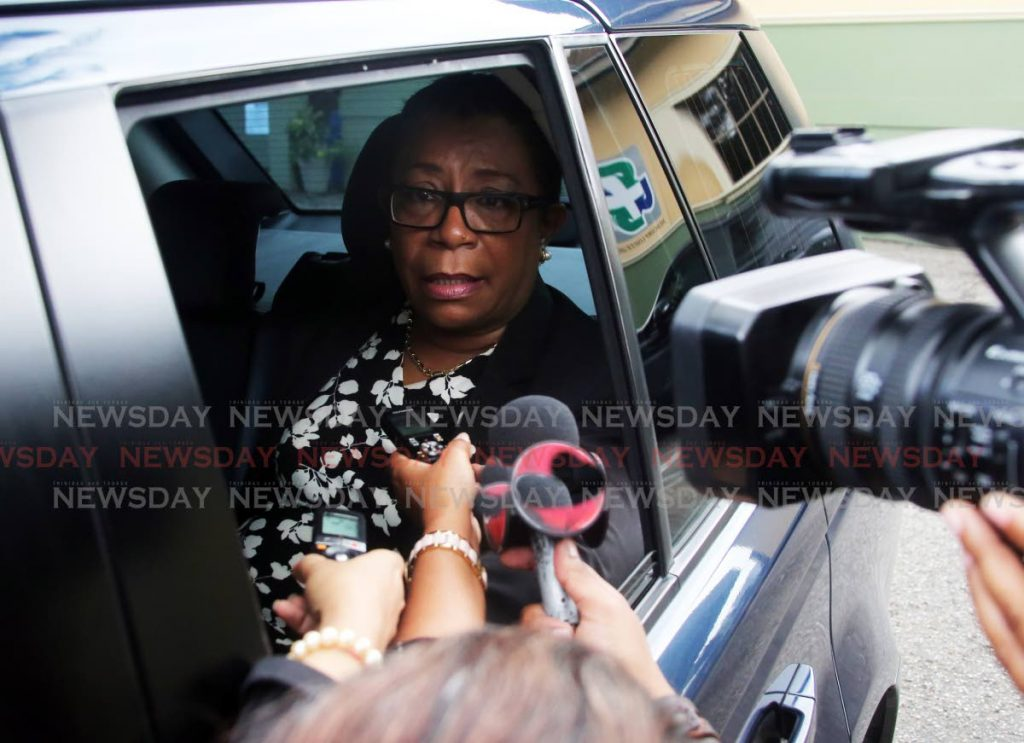 Attorney Pamela Elder S.C. speaks to the media outside St Clair Medical where Marlene Mc Donald  is warded for medical treatment. PHOTO SUREASH CHOLAI