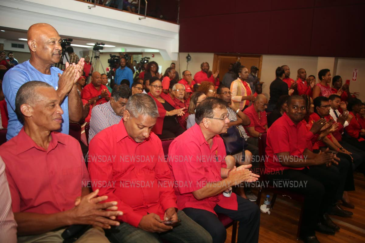 The audience at Conversations with our Political Leader at City Hall in Port of Spain on Thursday night. PHOTO SUREASH CHOLAI
