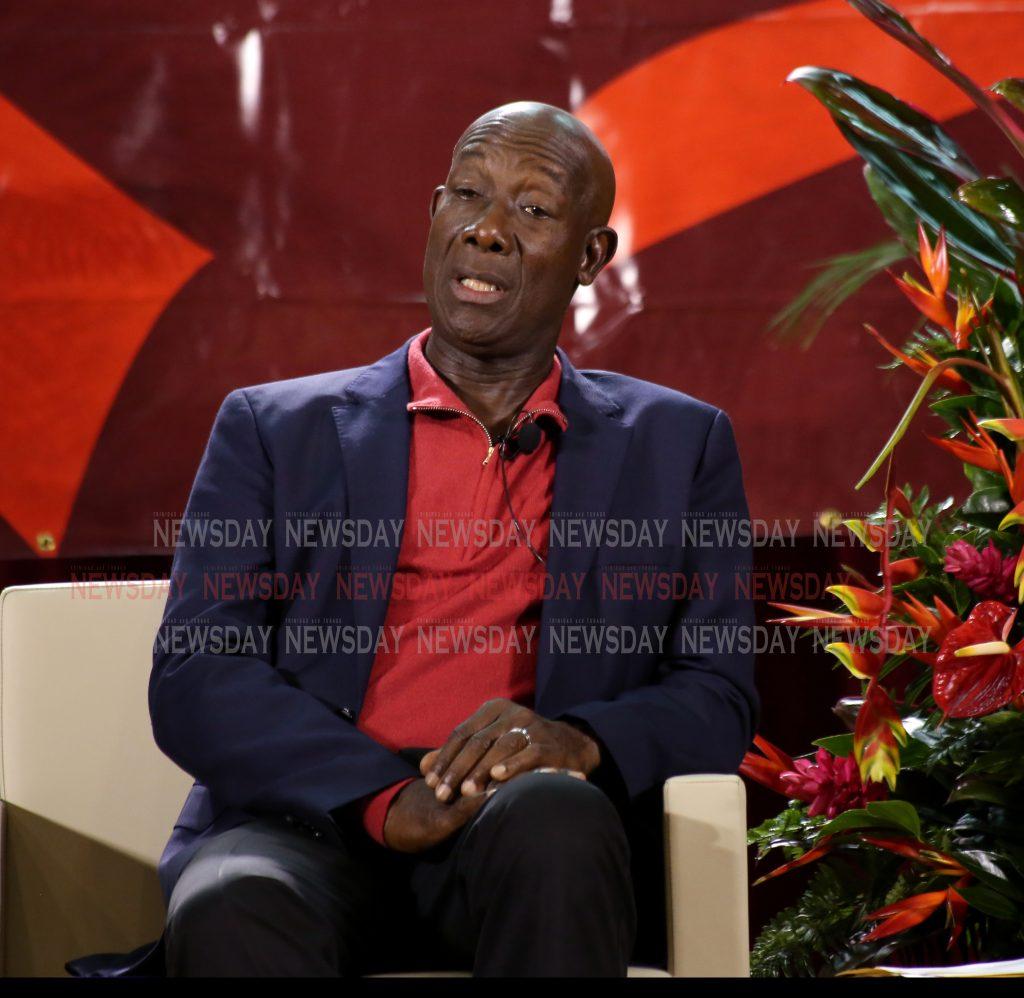 Conversation Dr Keith Rowley Thursday night at City Hall Knox Street Port of Spain PHOTO SUREASH CHOLAI