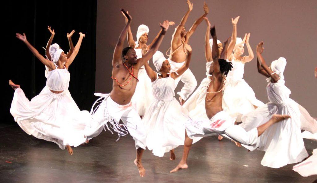 Members of The Astor Johnson Repertory Dance Theatre perform at Carifesta Decades of Dance.