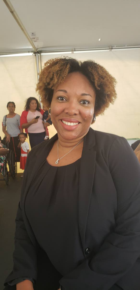 Paula Hamilton-Smith, author of Diary of a Grieving Mother. She read an exerpt of her unreleased book as part of the Bocas Lit Fest's open mic for Carifesta at the Queen's Park Savannah.